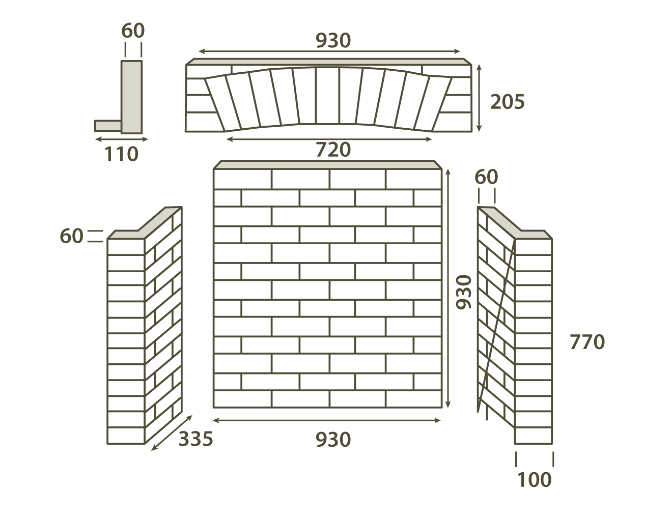 Brick Chamber with front Returns & Arch - Heat Design