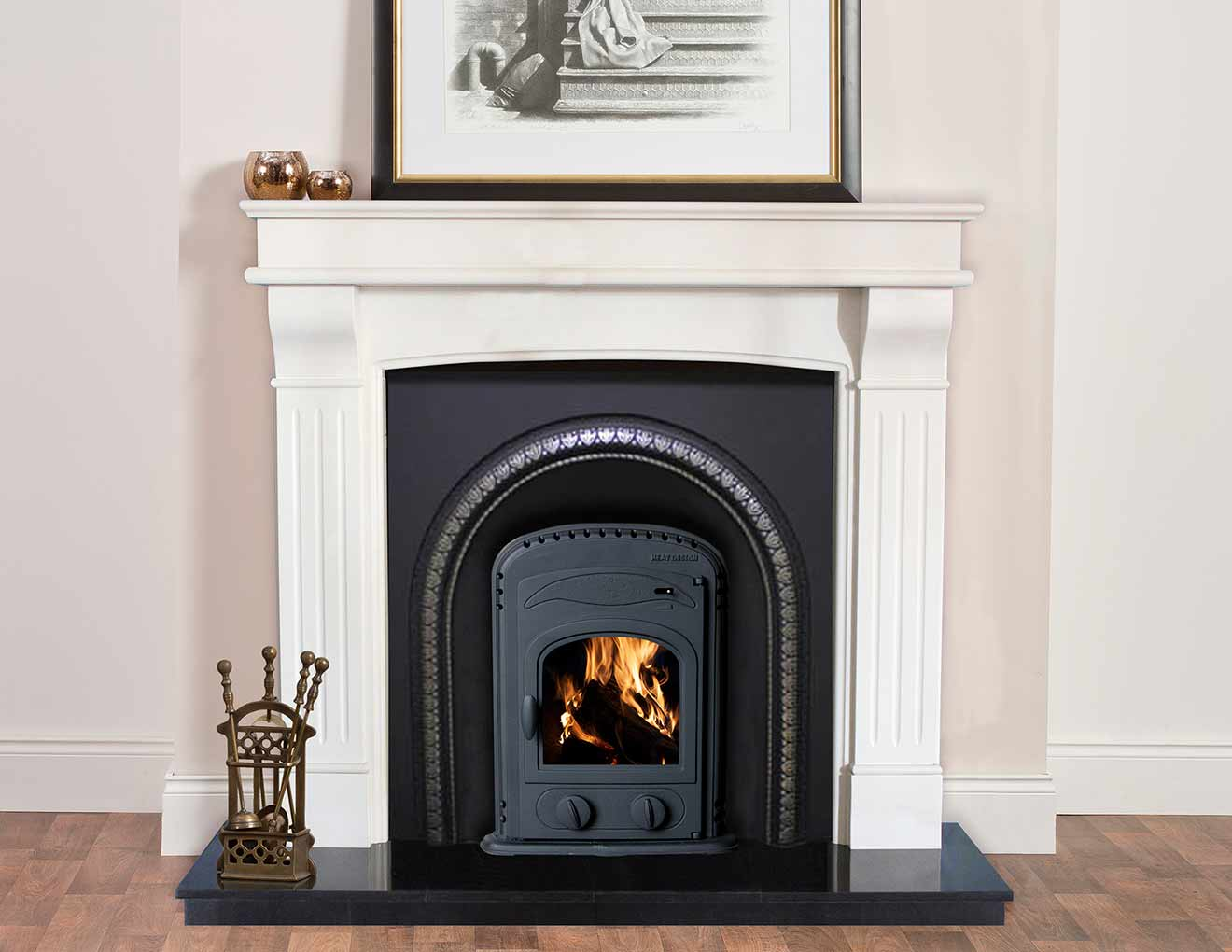 Arched Insert Stove Heat Design