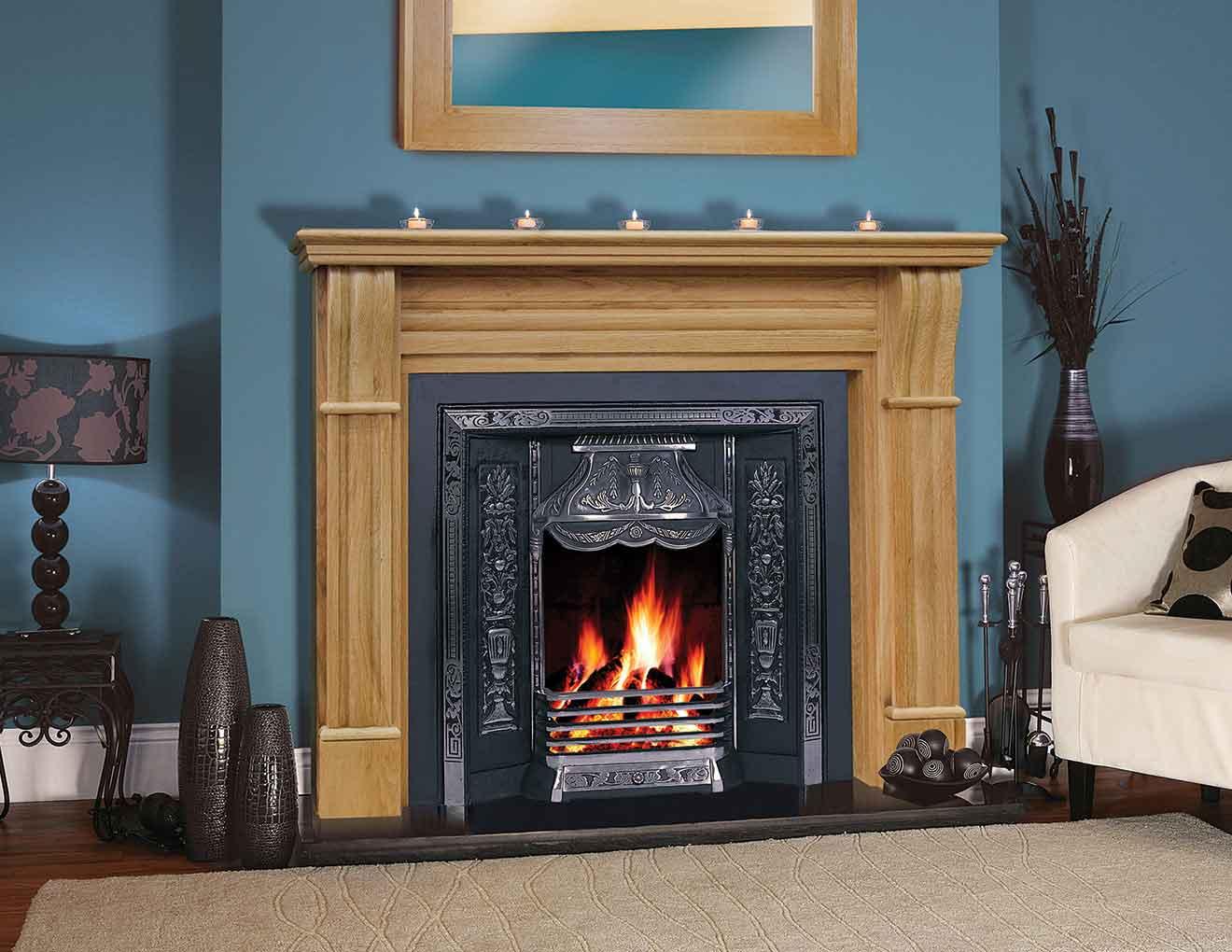 Irish Corbel Solid Oak Fireplace Heat Design